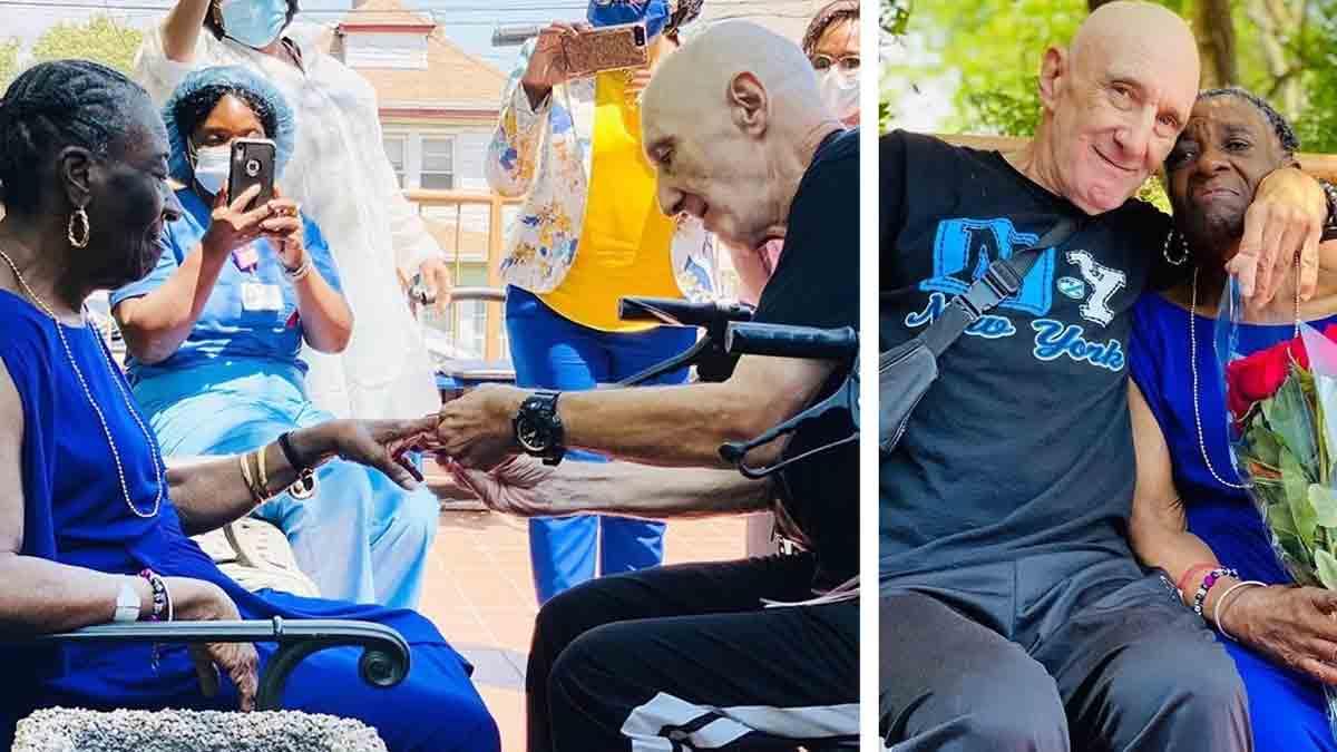 Abuelos se comprometen en matrimonio tras vencer el COVID-19